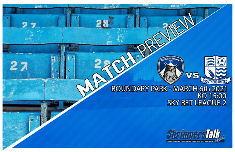 Southend Head To Greater Manchester This Weekend In Search Of Points