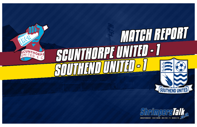 A Draw Feels Like A Defeat For Southend As They Draw 1-1 With Scunthorpe United