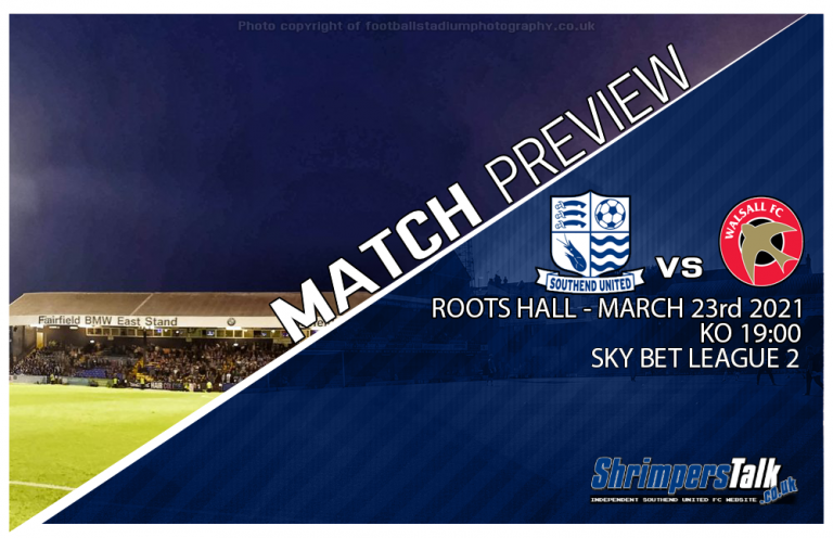 Southend Welcome The Saddlers To Roots Hall This Tuesday