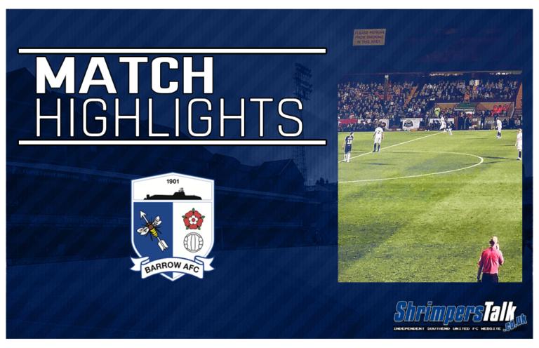 Highlights: Barrow AFC 1 Southend United 2